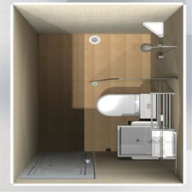 Prefabricated Fiberglass Molded Products Residential Modular Bathroom Pods